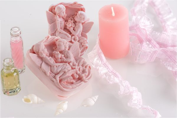 handmade angel pink soap