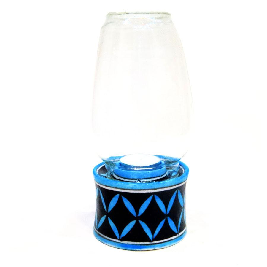 stylish blue and black handmade light lamp