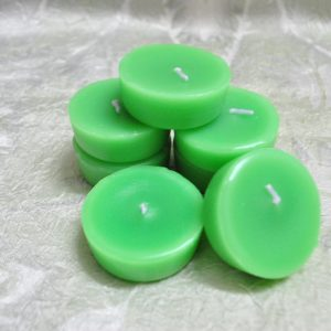 Coloured Tea Light Candles (Green) - Set of 7