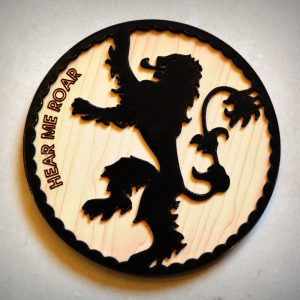 Upcycled Vinyl Record Game of thrones inspired coasters (Set of 3)