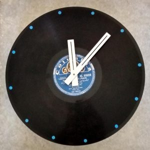 Customised Blue Columbia LP Clock
