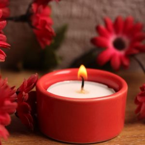 Aion Red Stone Festive Tea Light Holder