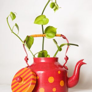 Kettle Planter Red